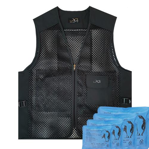 JC-1040 Gold Mesh Ice Vest